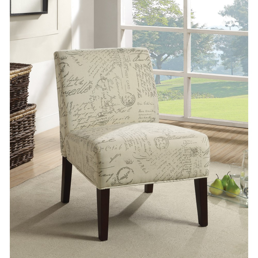 Image of: armless accent chairs size