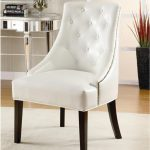 armless accent chairs white