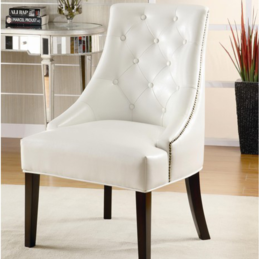 Image of: armless accent chairs white