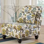 armless accent chairs with floral