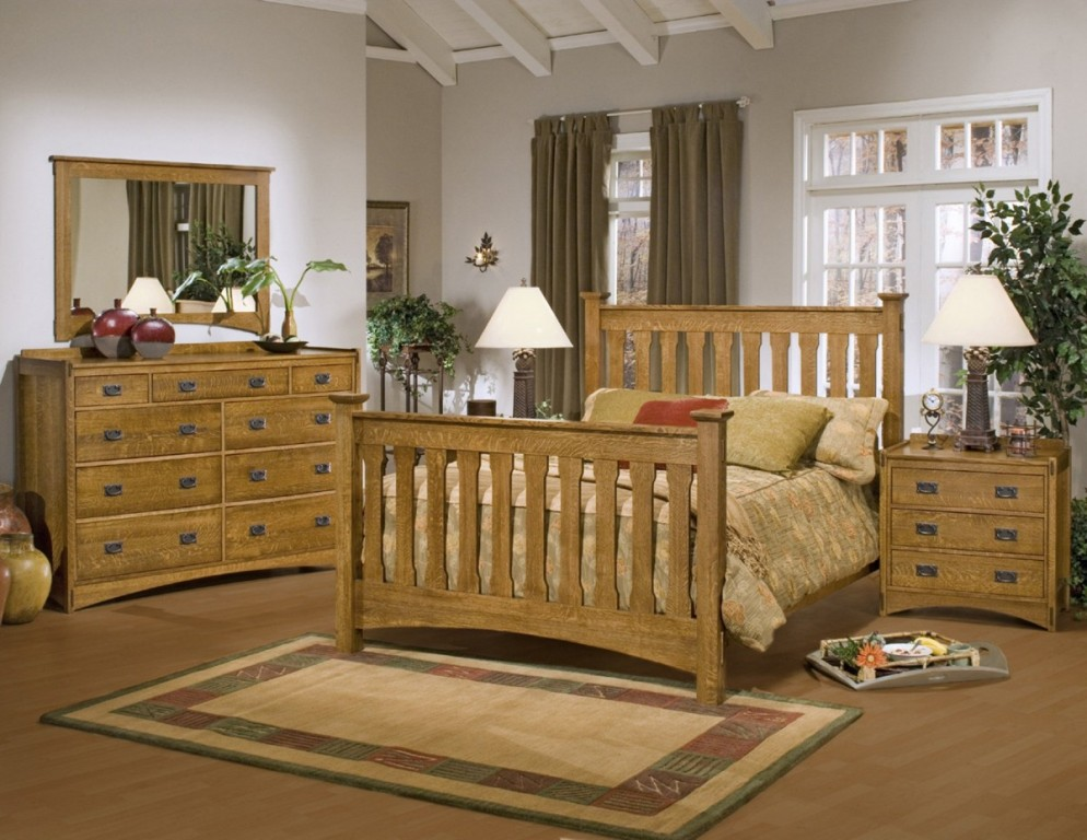 Image of: Ashley Mission Style Bedroom Furniture