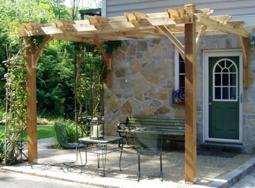 Image of: Attached Pergola Kits Design
