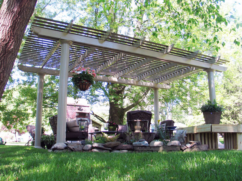 Image of: Attached Pergola Kits Garden