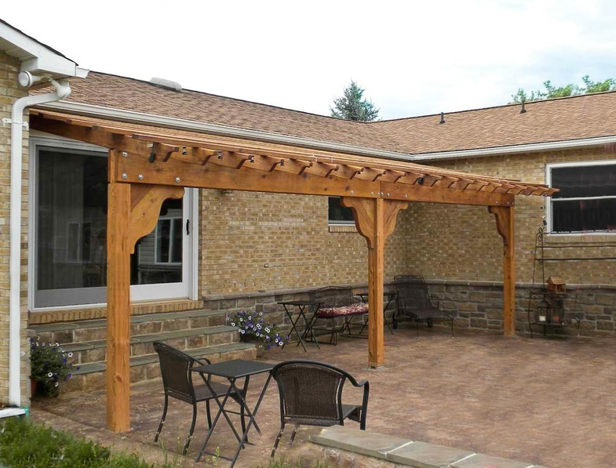 Image of: Next Attached Pergola Kits Ideas