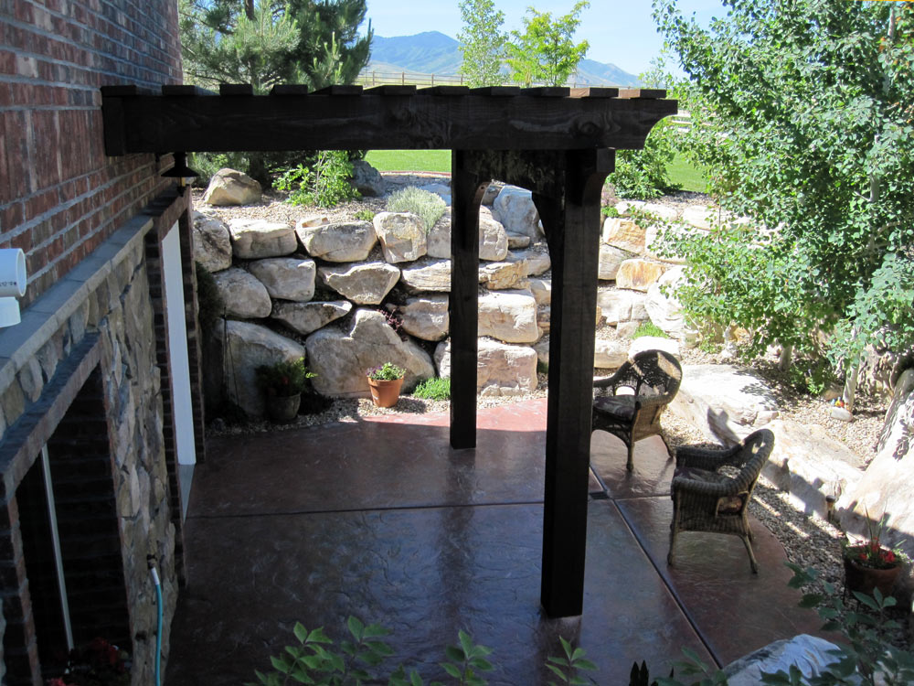 Image of: Attached Pergola Kits Plan
