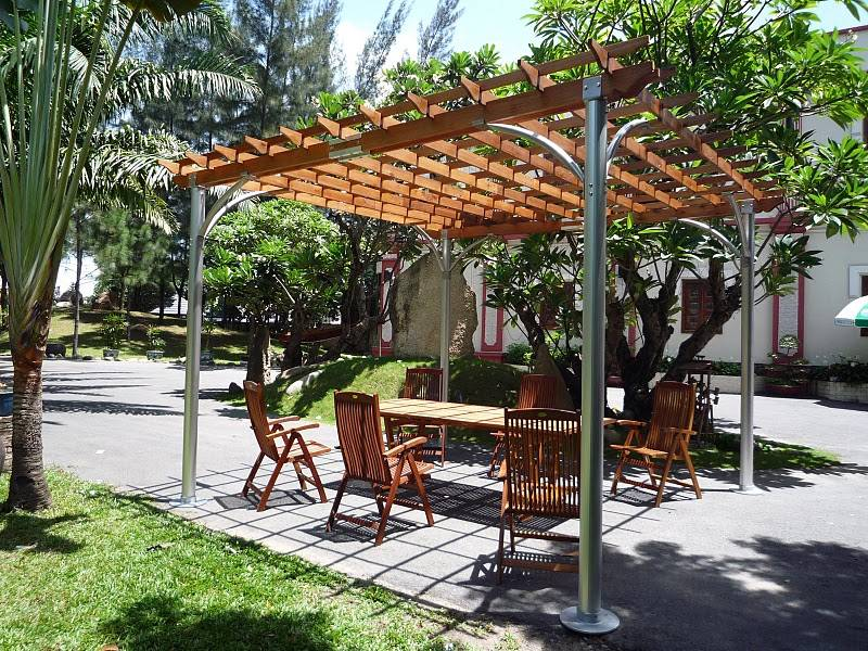 Image of: Awesome Aluminum Pergola Kits