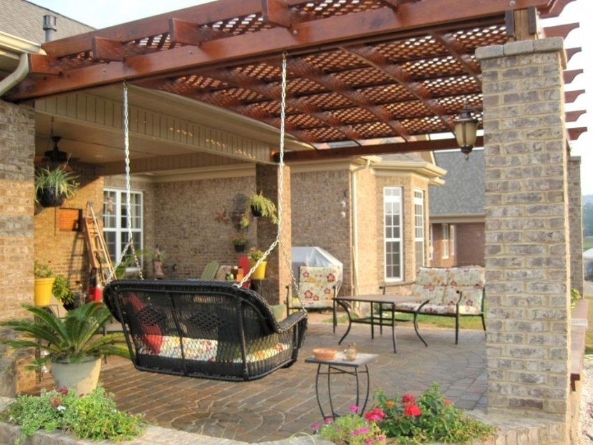 Image of: Awesome Attached Pergola Kits