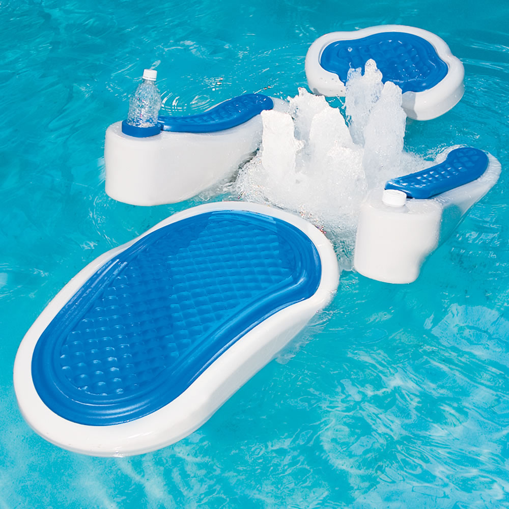 Image of: awesome floating pool chairs