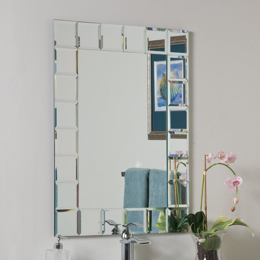 Image of: Awesome Frameless Bathroom Mirrors