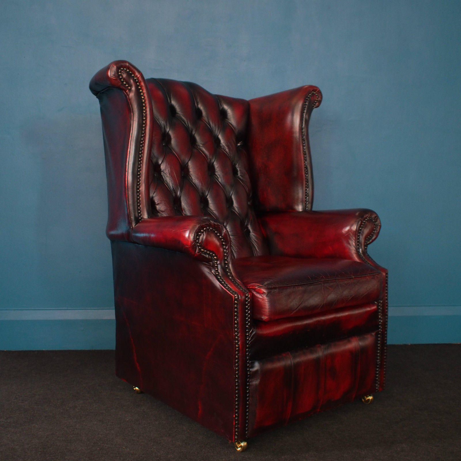 Image of: awesome leather wingback chair