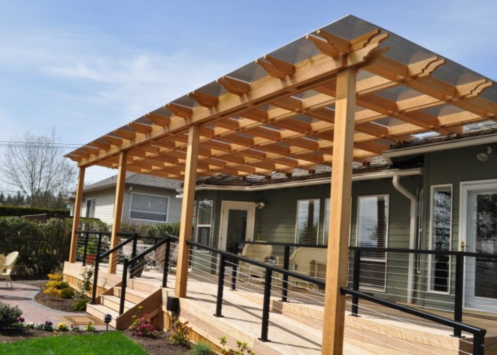 Image of: Awesome Waterproof Pergola Covers