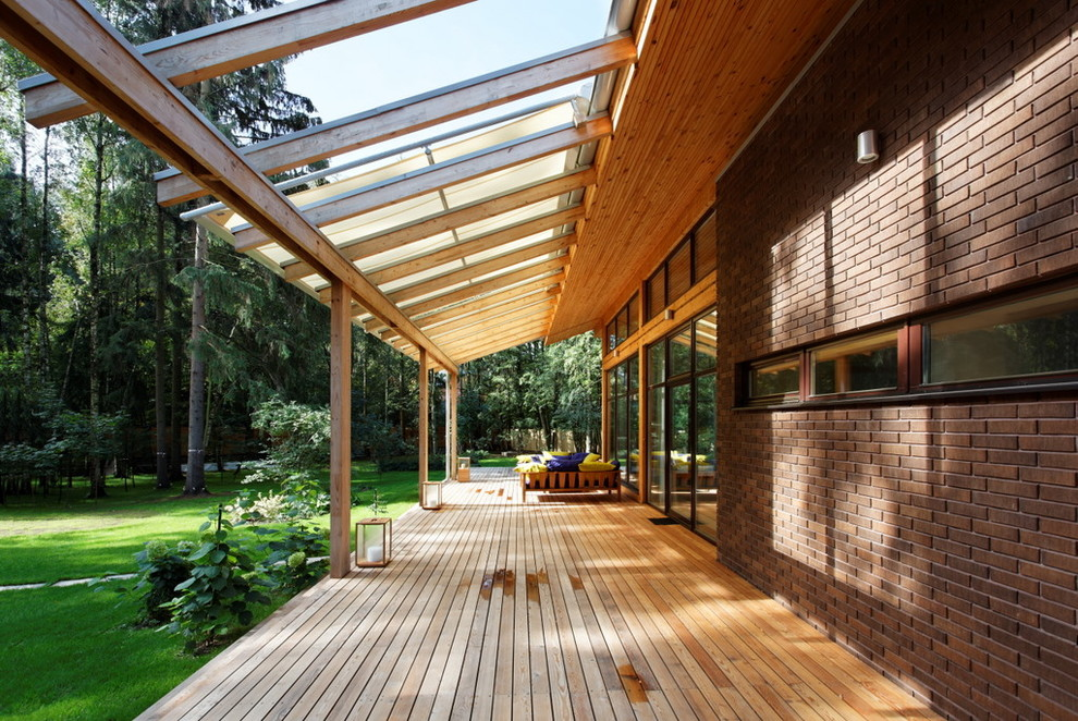 Image of: Awnings for Decks Wood