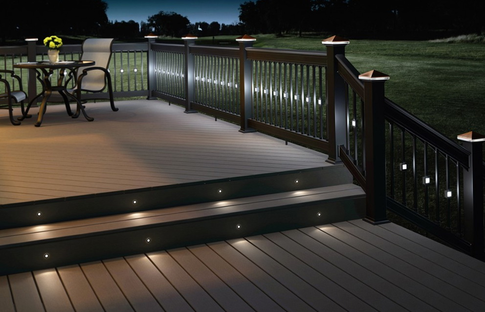 Image of: Backyard Recessed Deck Lighting