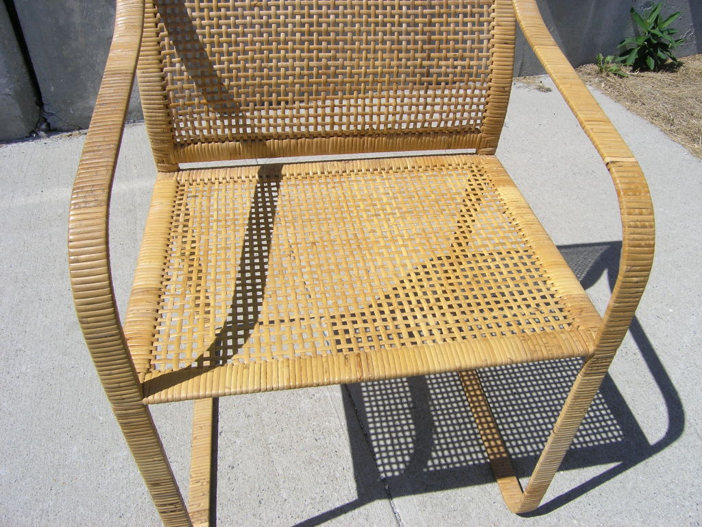 Image of: Bamboo Rattan Dining Chairs