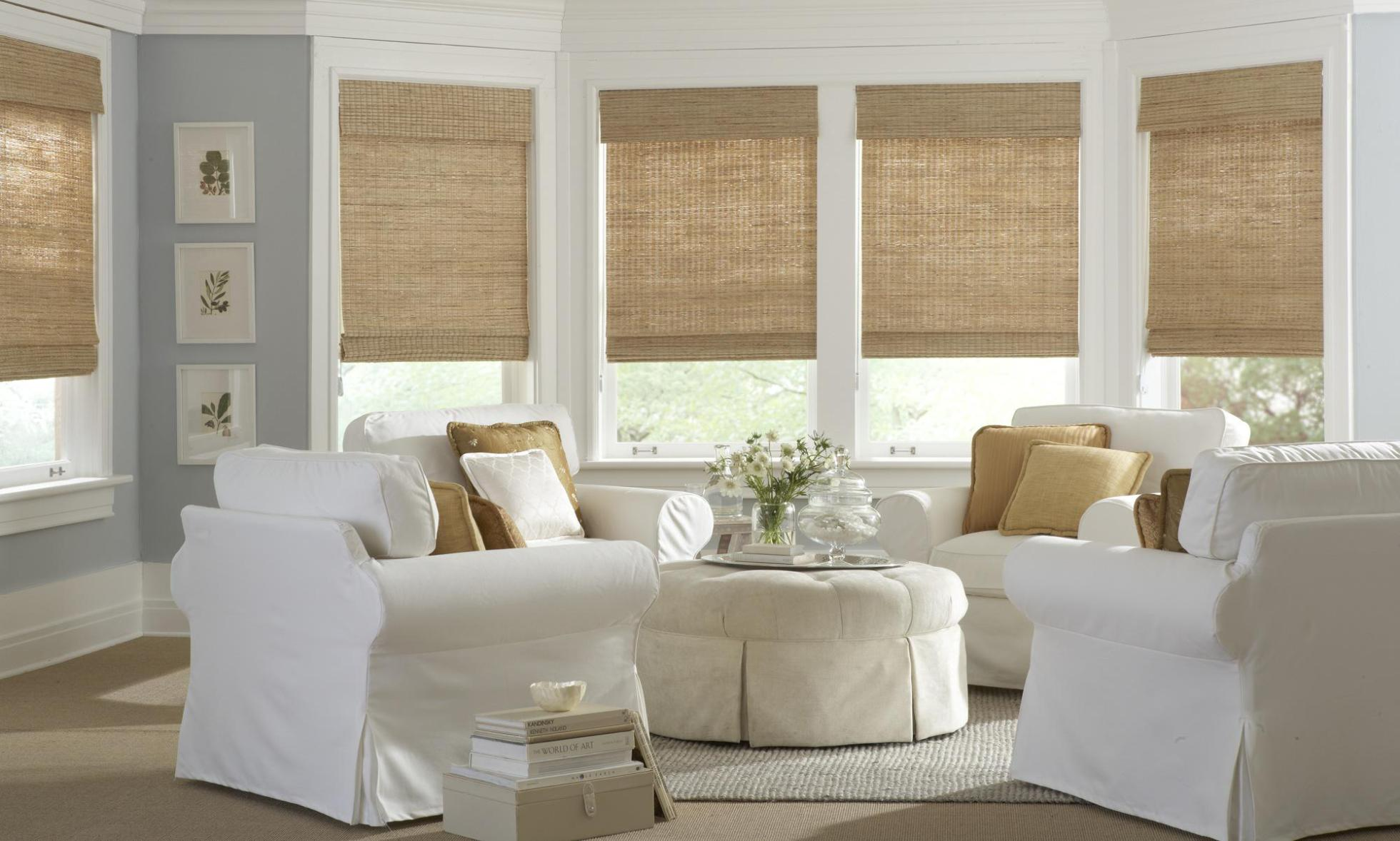 Image of: Bamboo Woven Wood Roman Shade