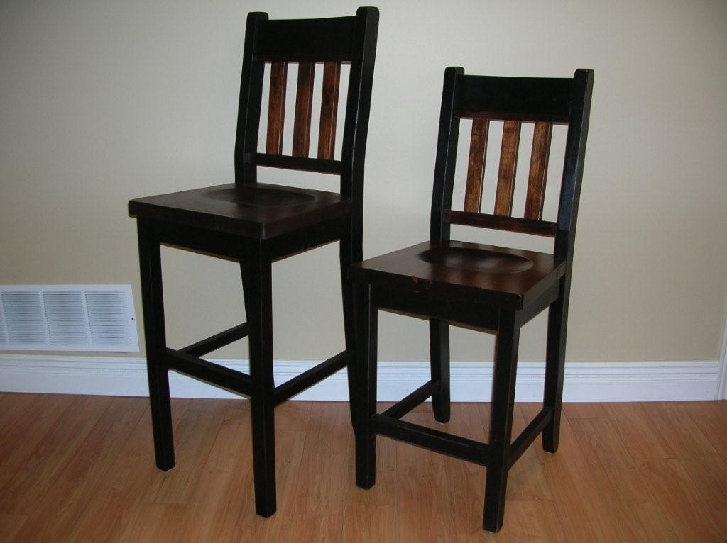 Image of: bar stool chairs black color