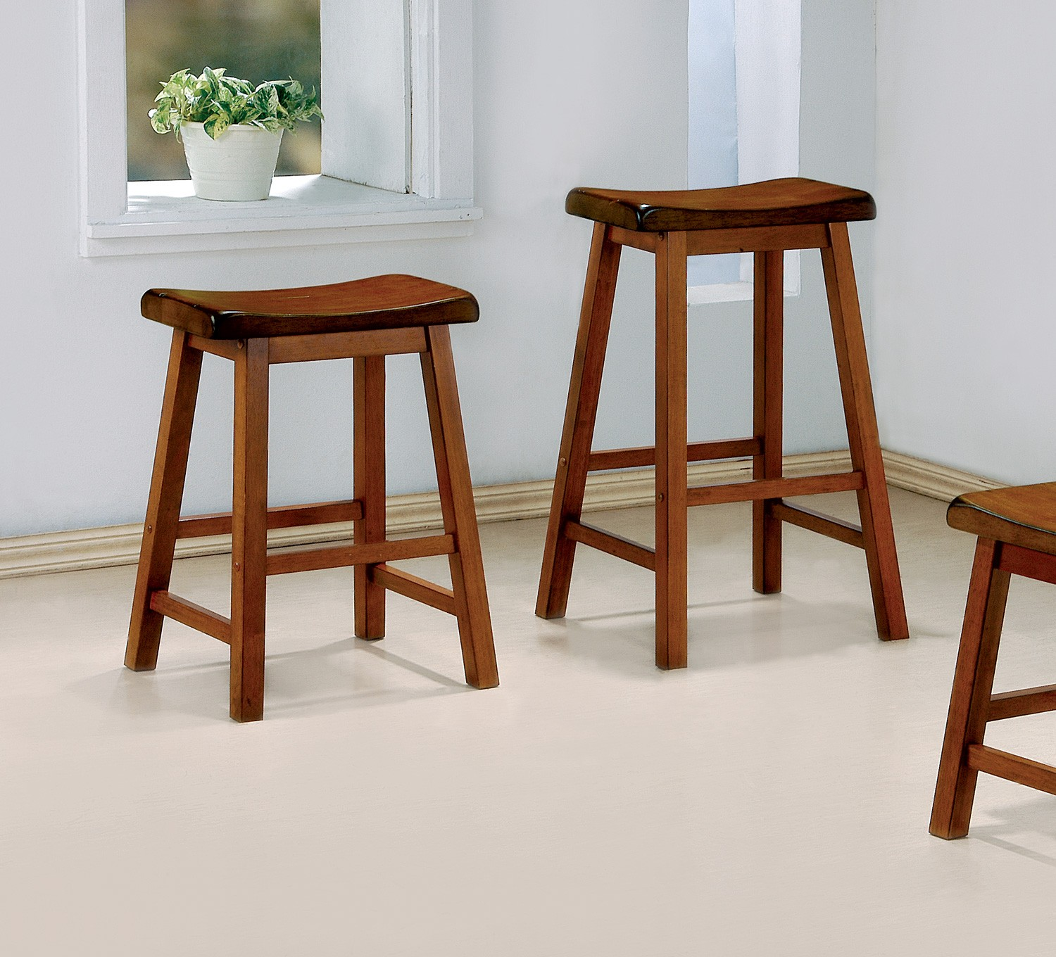 Image of: bar stool chairs brown color