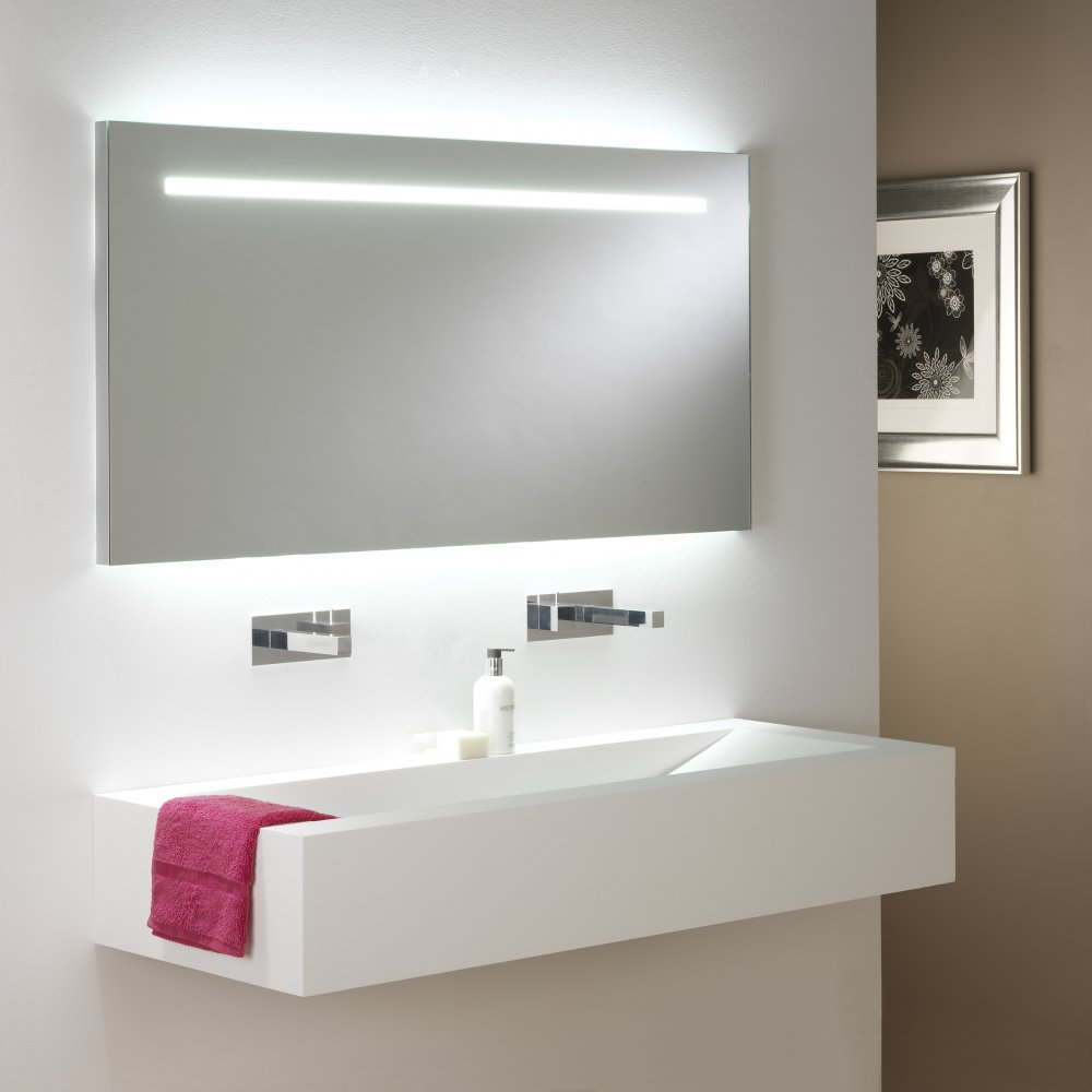 Image of: Bathroom Mirror with Lights White
