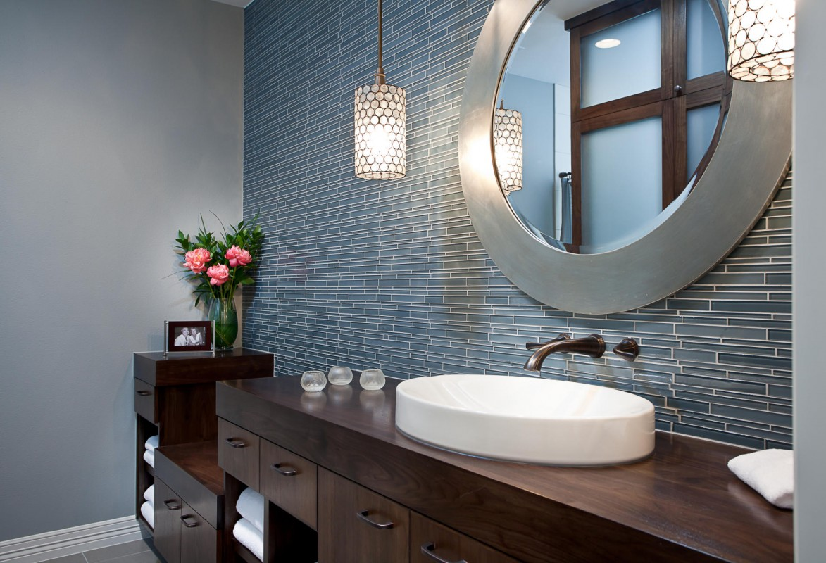 Image of: Bathroom Vanity Mirrors Round