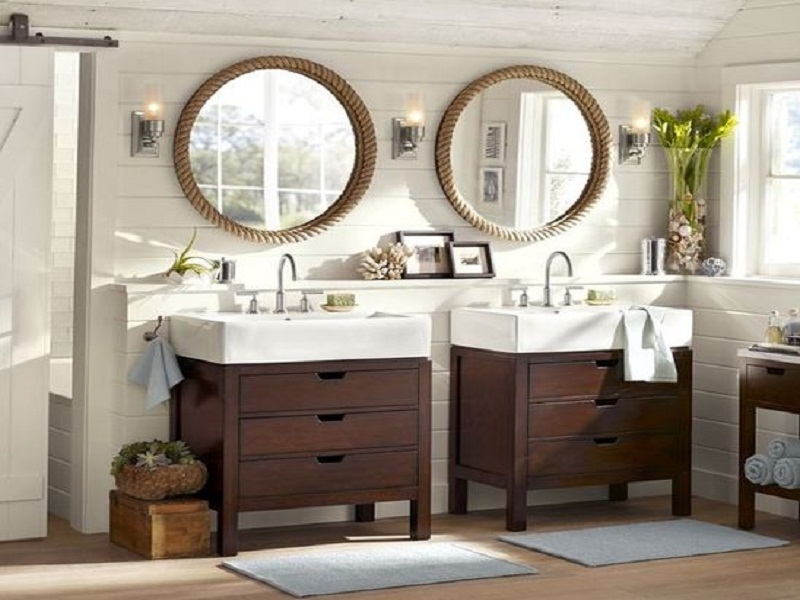 Image of: Bathroom Vanity Mirrors Shapes