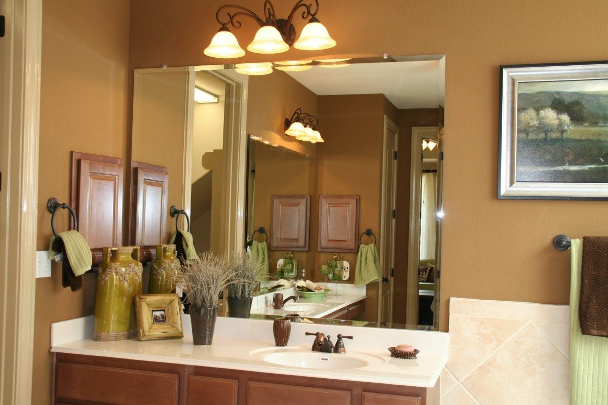 Image of: Bathroom Vanity Mirrors Wall
