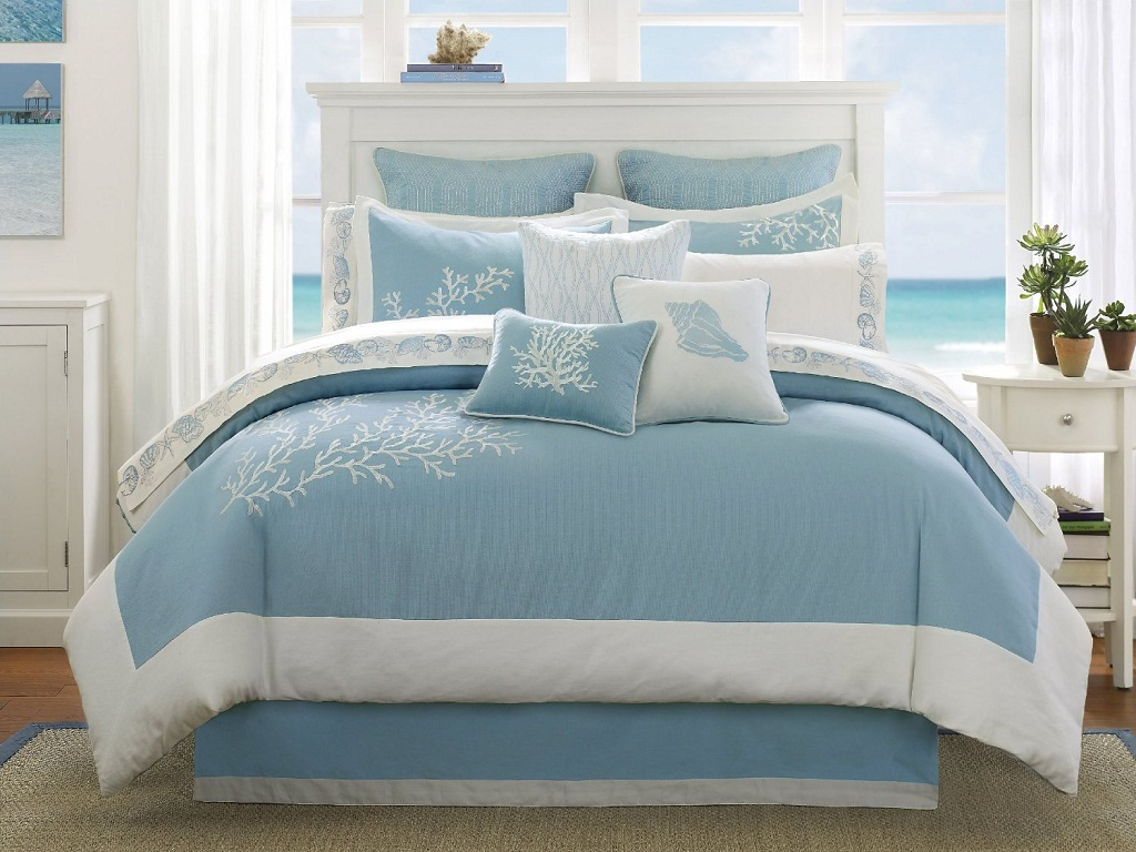 Image of: Beach Theme Bedroom Curtains