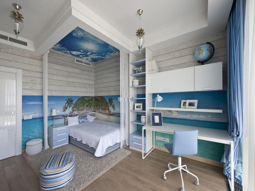 Image of: Beach Themed Bedroom Sets