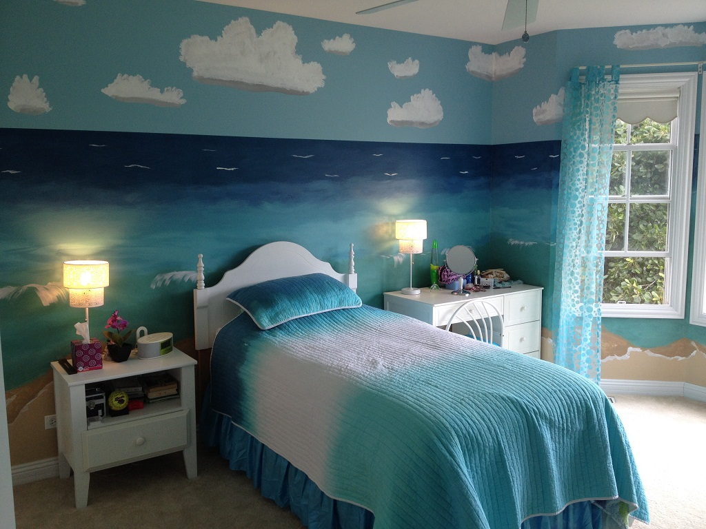 Beach Themed Bedrooms DIY