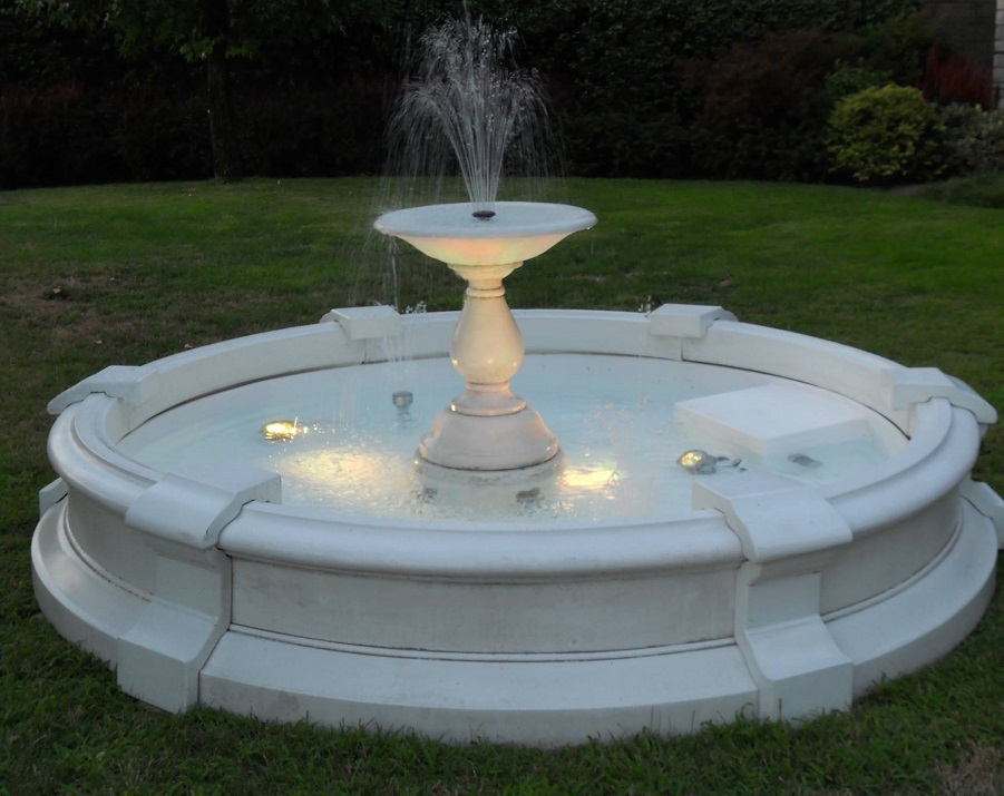 Image of: Beautiful Concrete Fountains Design