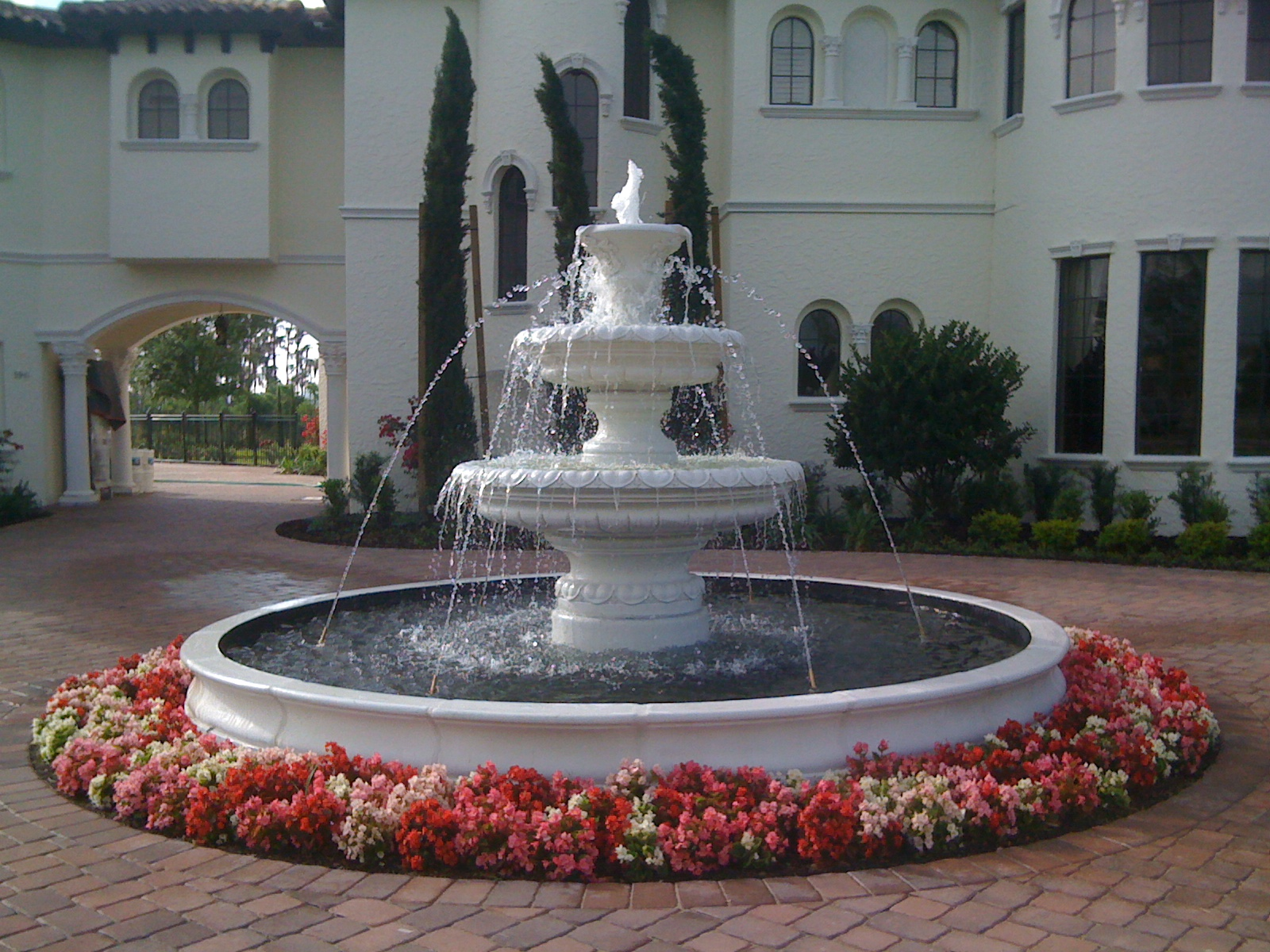 Image of: Beautiful Concrete Fountains