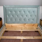 diy bed frame with headboard Cork   Pillows Lamps