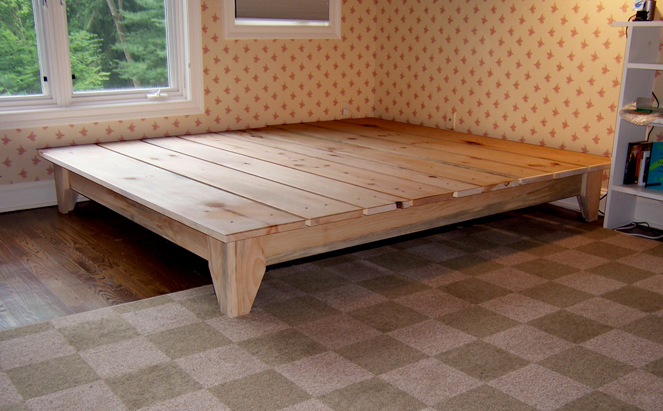 Image of: Bed Frame Plans With Drawers