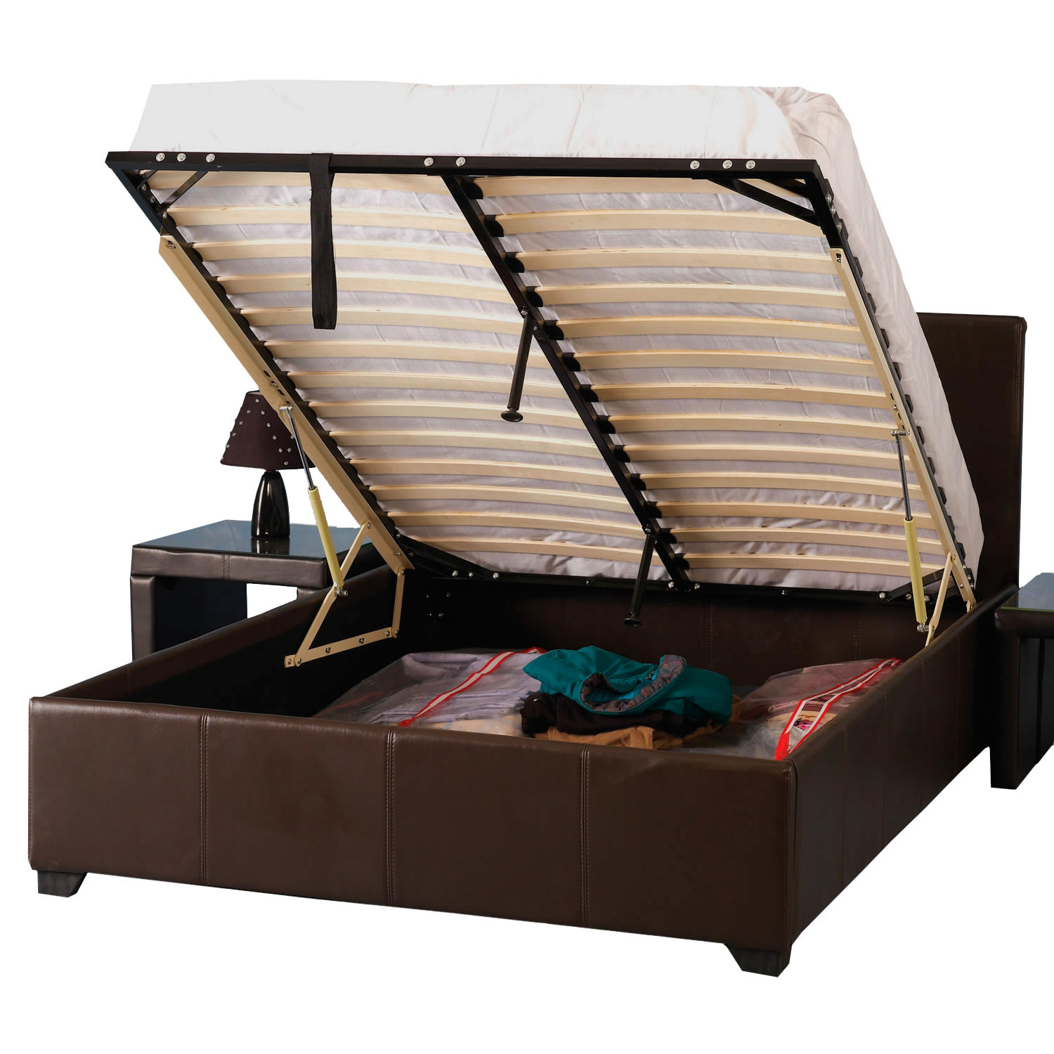 Image of: Bed Frames With Storage Amazon