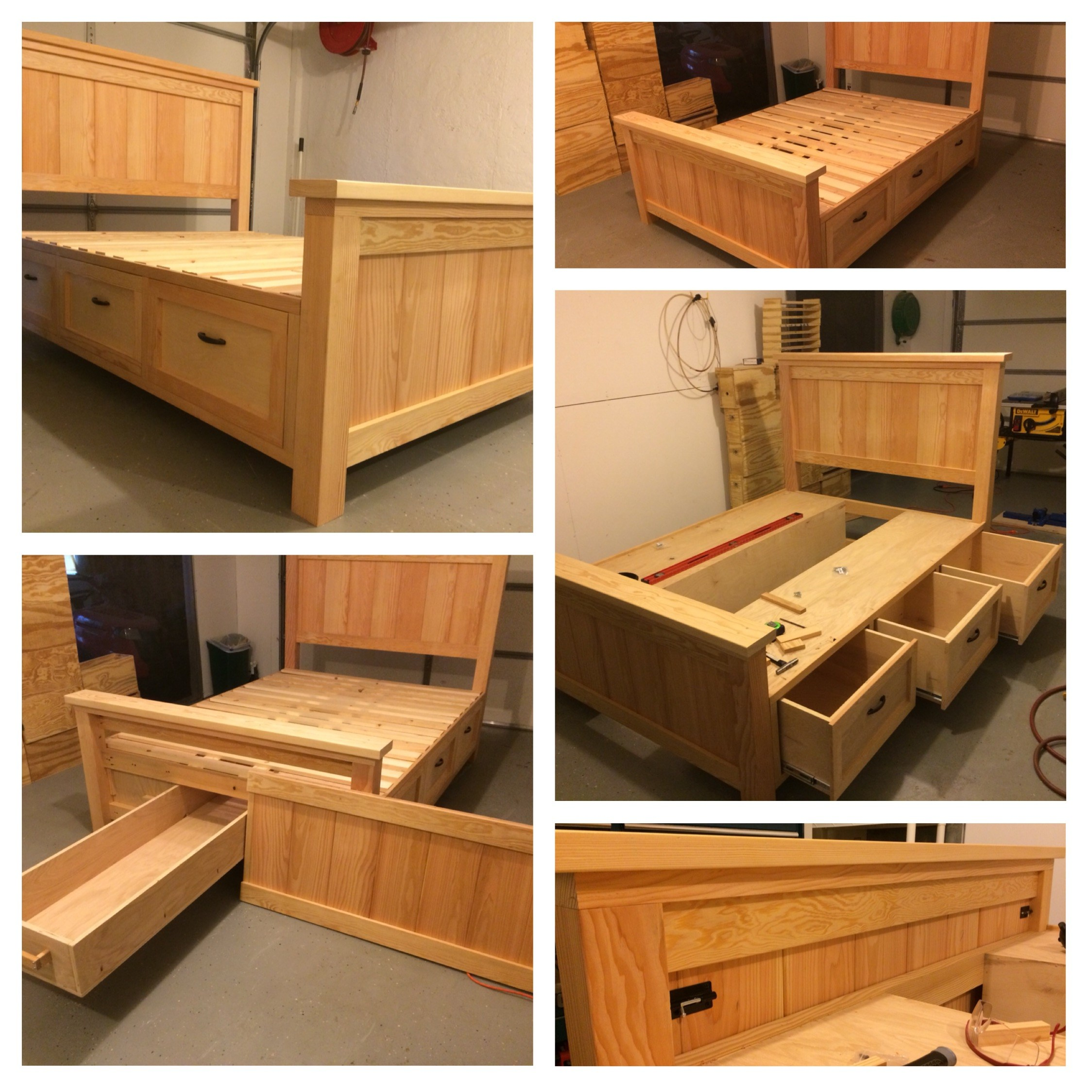 Image of: Bed Frames With Storage Cheap