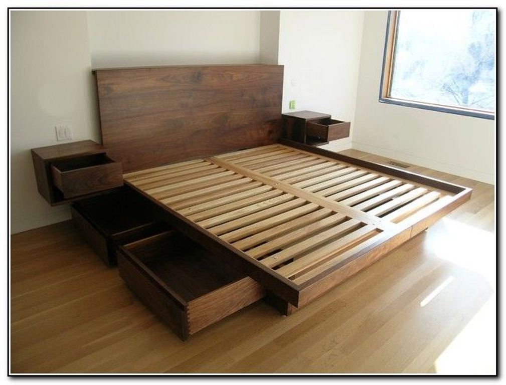 Image of: Bed Frames With Storage Diy