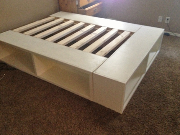 Image of: Bed Frames With Storage King