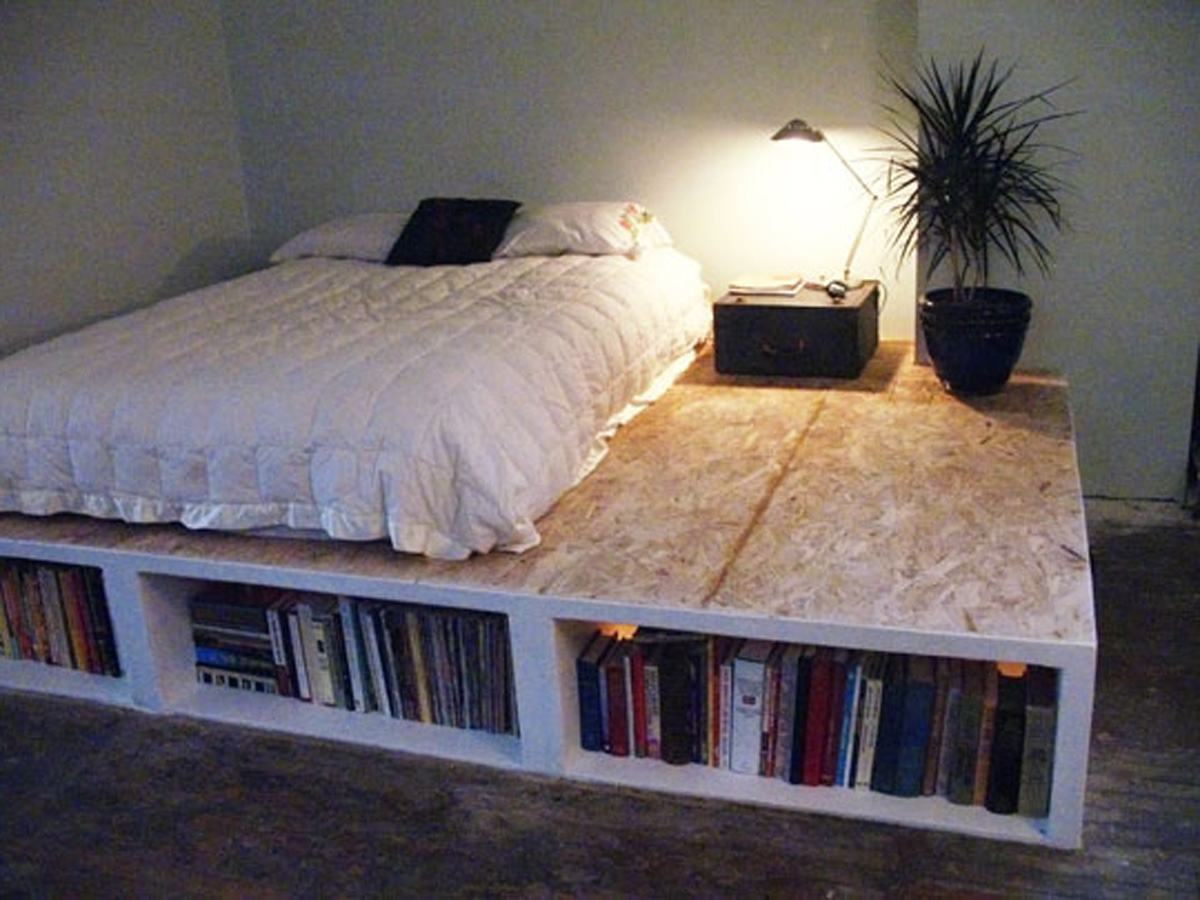 Image of: Bed Frames With Storage Uk