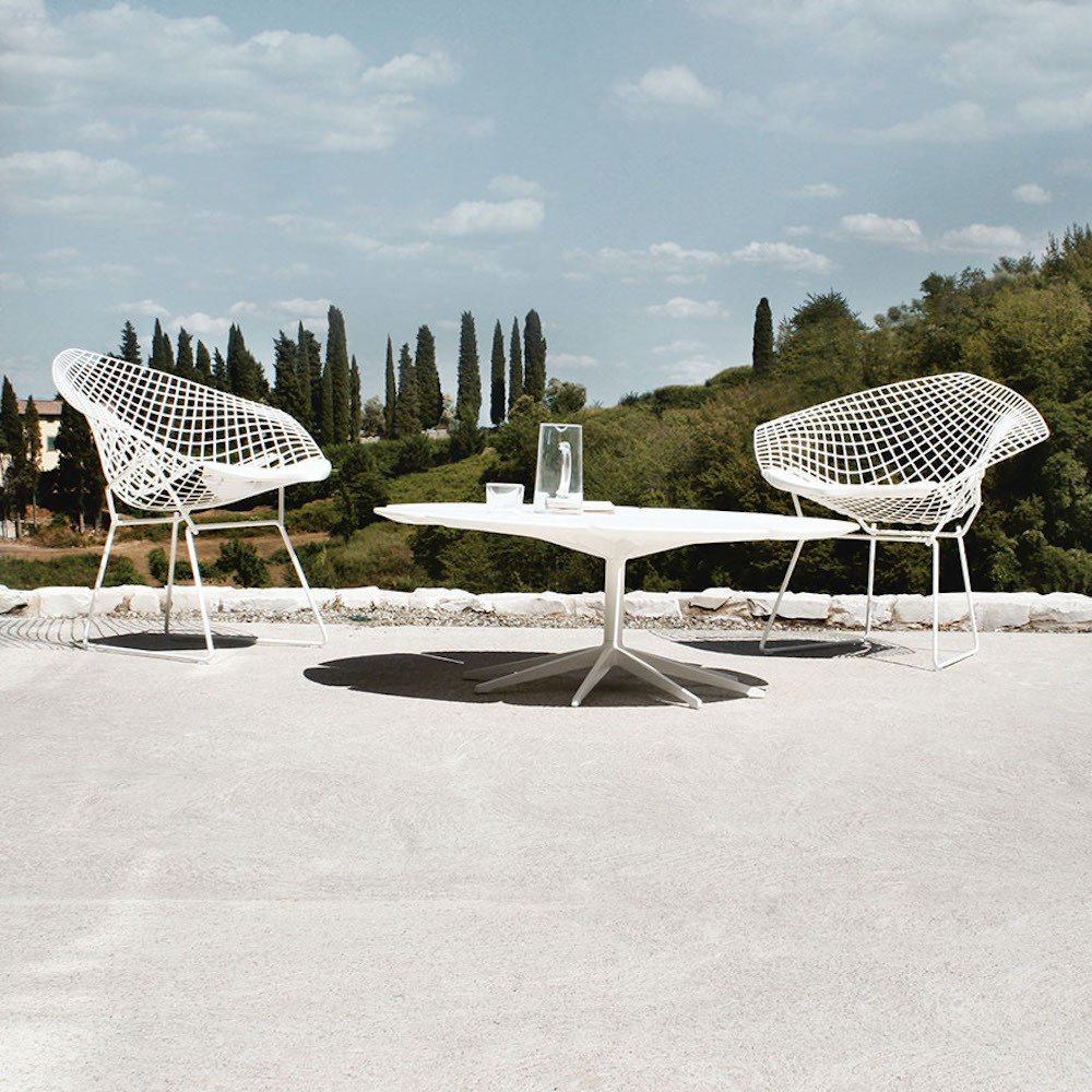 Image of: bertoia diamond chair set