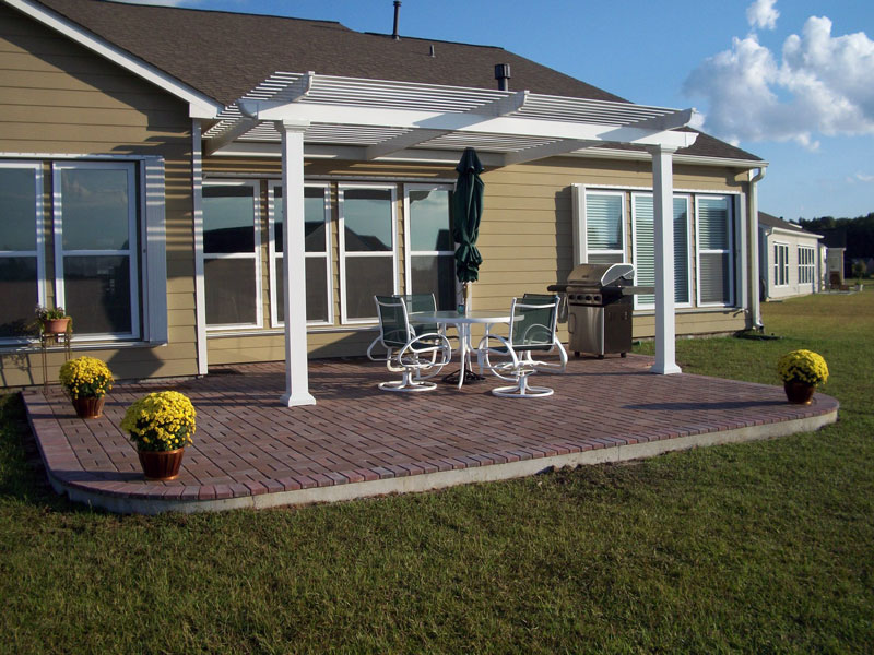 Image of: Best Attached Pergola Kits