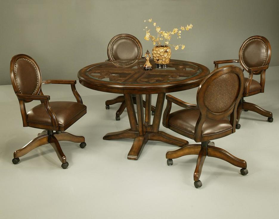 Image of: Best Dining Room Chairs With Casters