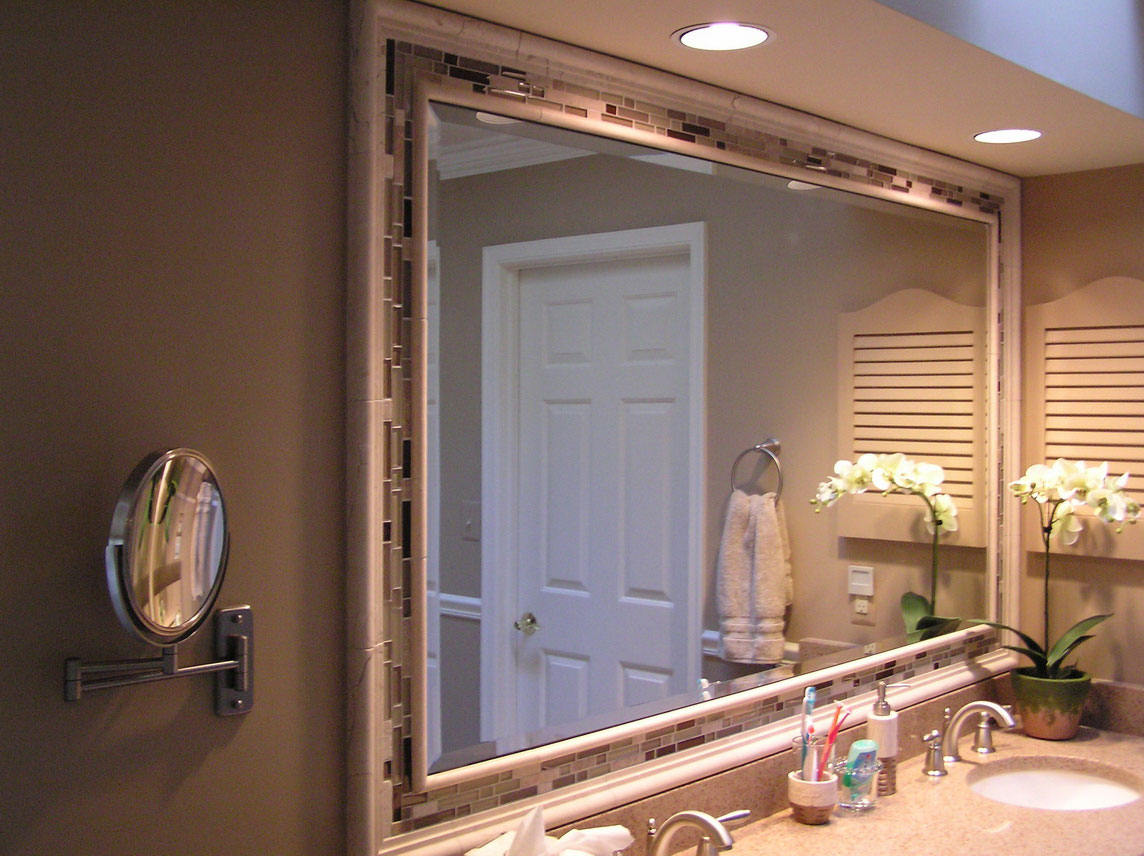 Image of: Best Framed Bathroom Mirrors