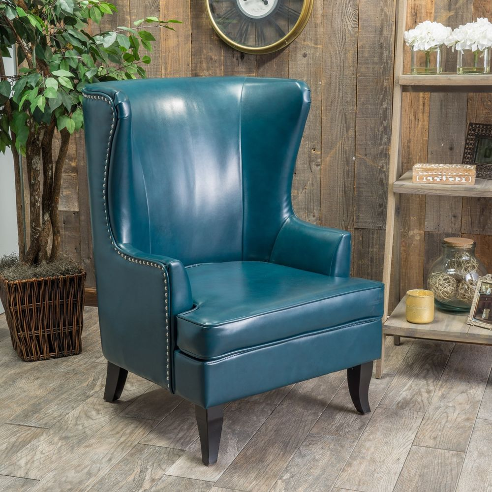 best leather wingback chair