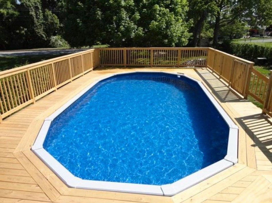 Image of: Best Oval Pool Decks