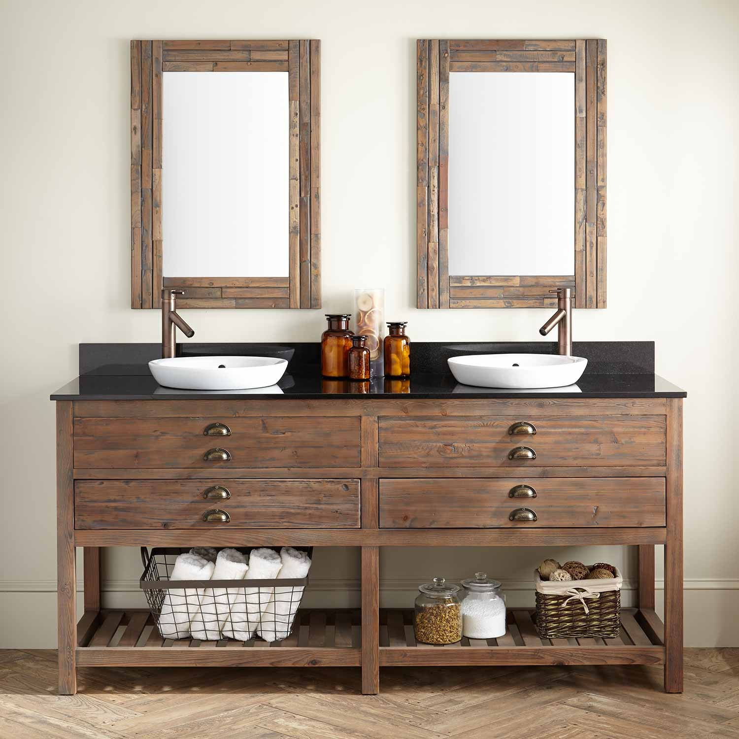 Image of: Best Reclaimed Wood Bathroom Mirror