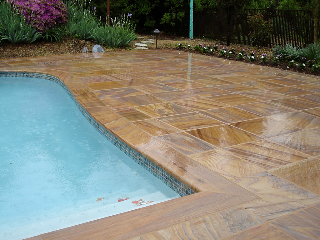 Image of: Best Sealer for Travertine Pool Deck