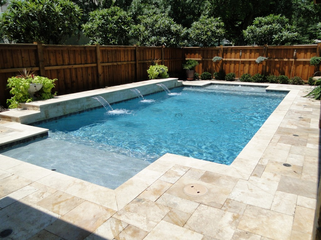 Image of: Best Travertine Pool Deck