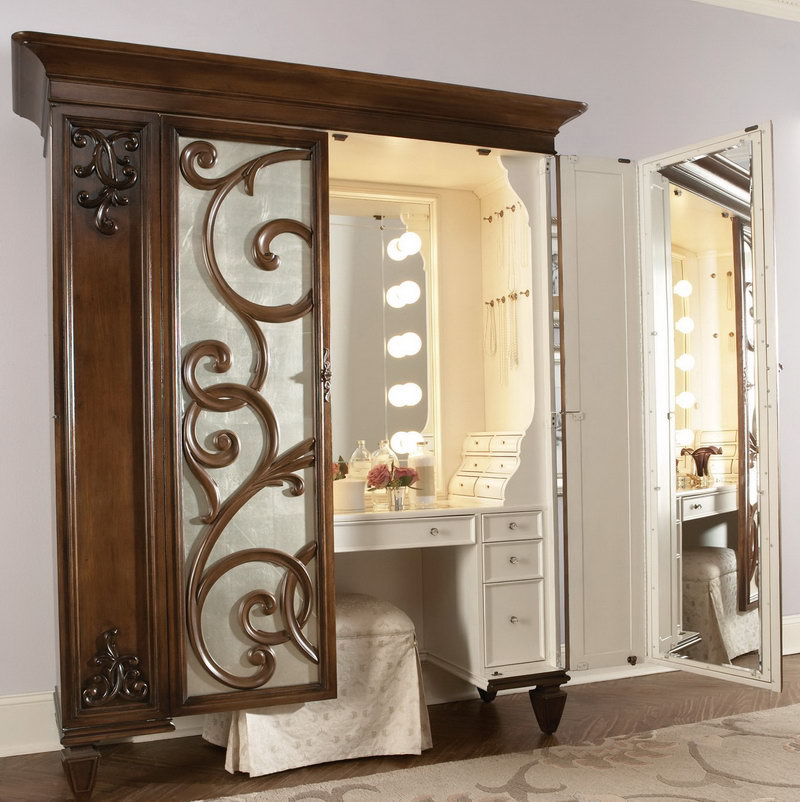 Image of: Best Vanity Table with Lighted Mirror
