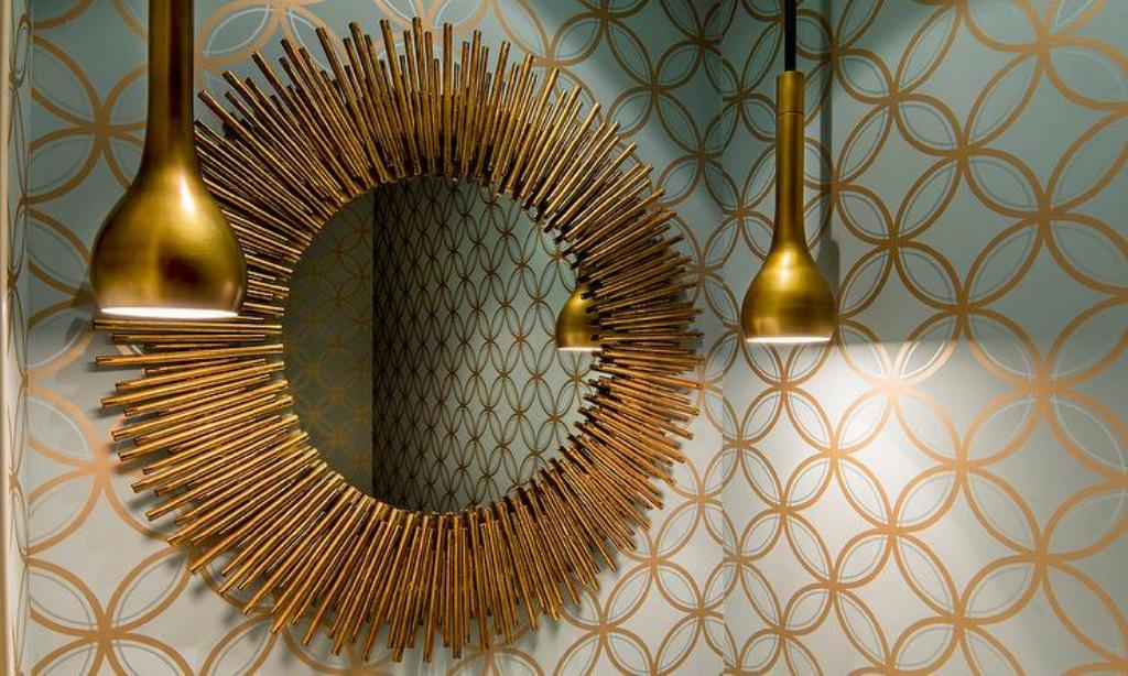 Big Gold Wall Mirror