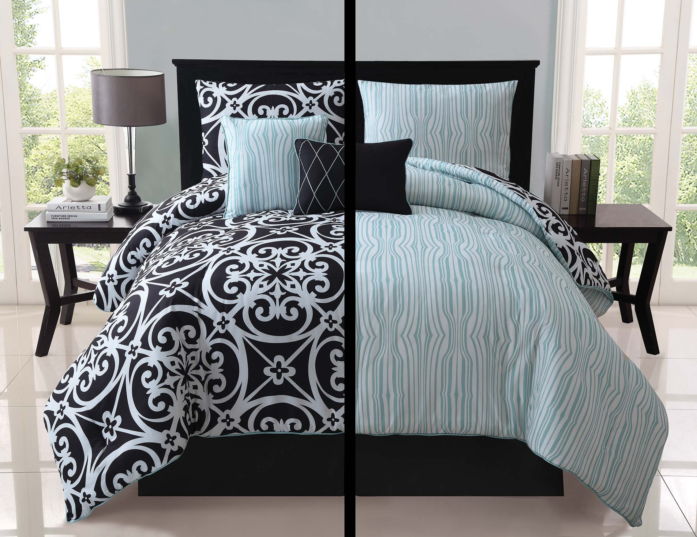 Image of: Black And White Bedding Canada