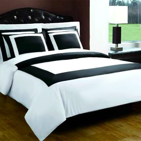 Image of: Black And White Bedding Double
